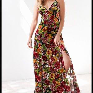 Urban outfitters velvet burnout dress